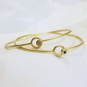 Madewell Gold Bangle and ring set